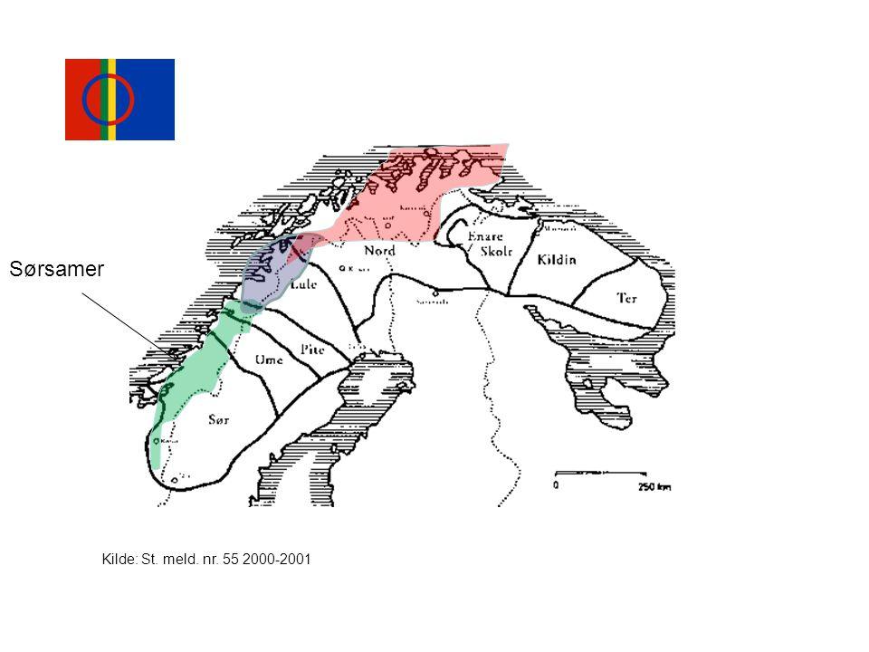 Sørsamer Kilde: St. meld. nr. 55 2000-2001