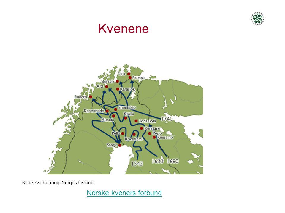 Kvenene Kilde: Aschehoug: Norges historie Norske kveners forbund