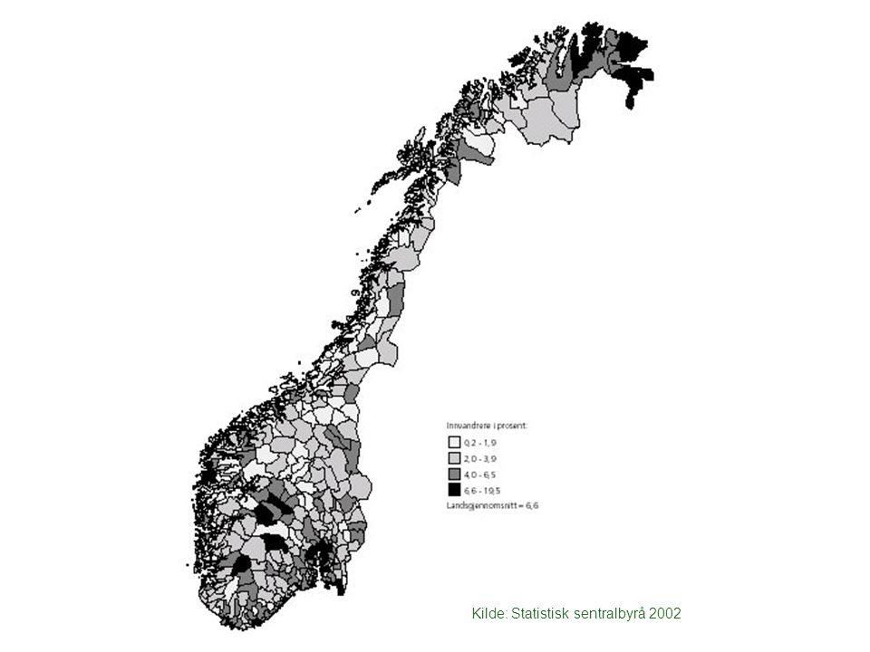 Hvor bor så innvandrerne i Norge