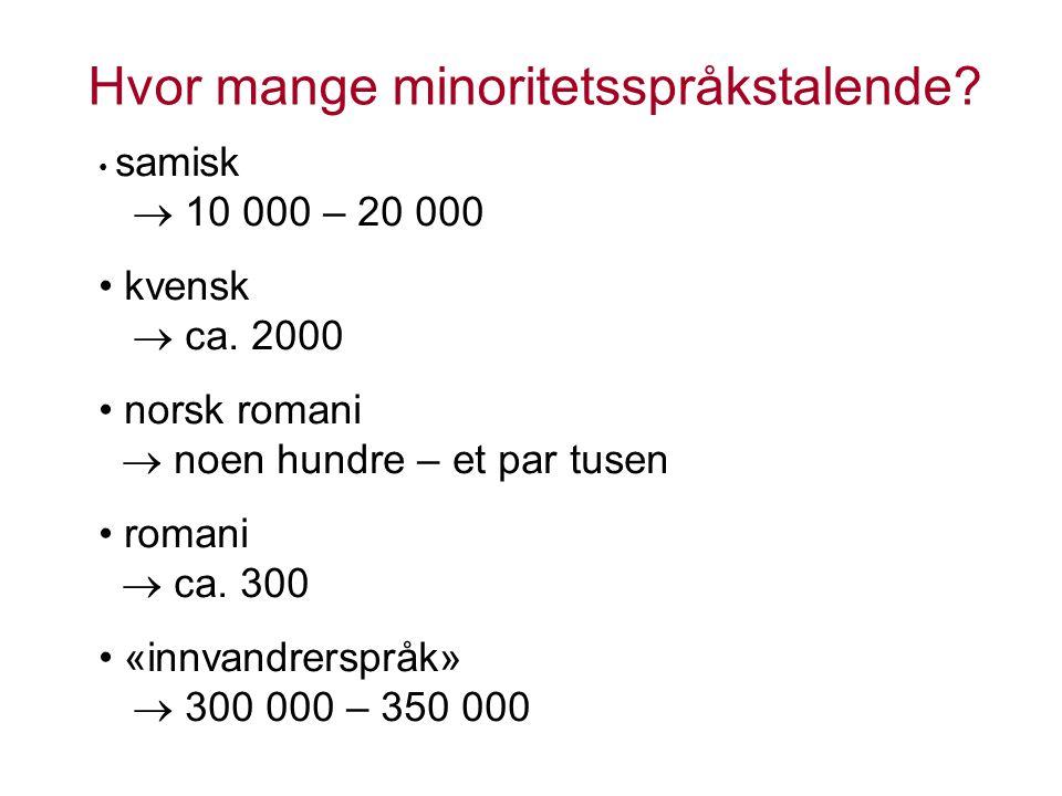norsk romani  noen hundre – et par tusen