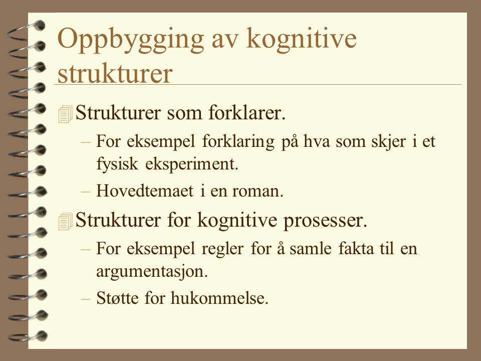 Oppbygging av kognitive strukturer