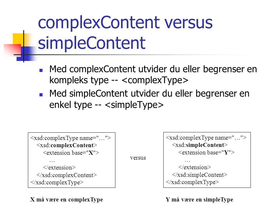 complexContent versus simpleContent