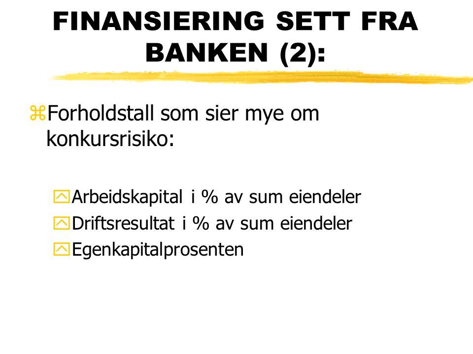 FINANSIERING SETT FRA BANKEN (2):
