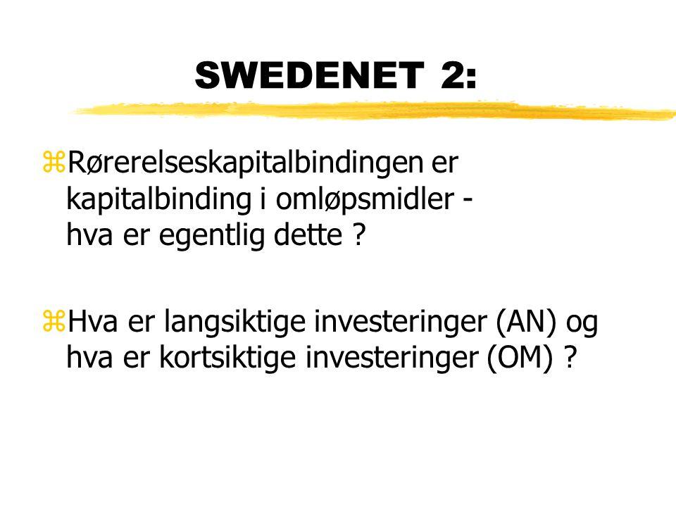 SWEDENET 2: Rørerelseskapitalbindingen er kapitalbinding i omløpsmidler - hva er egentlig dette