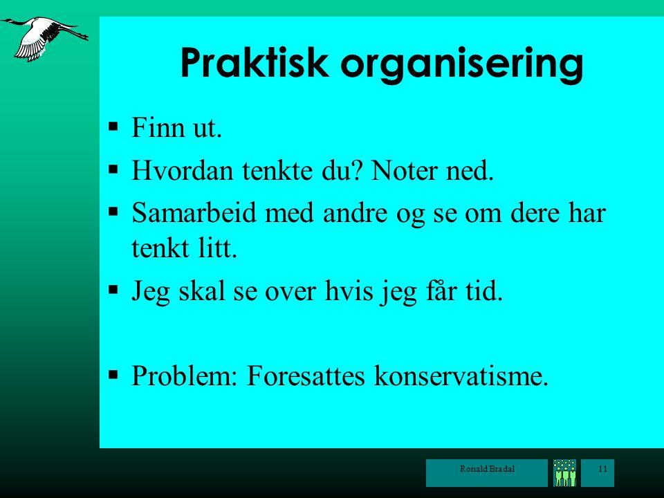 Praktisk organisering