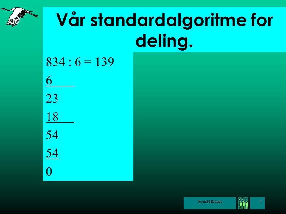 Vår standardalgoritme for deling.