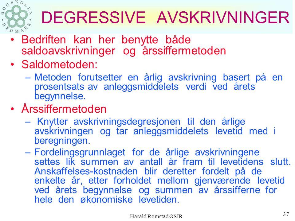 DEGRESSIVE AVSKRIVNINGER