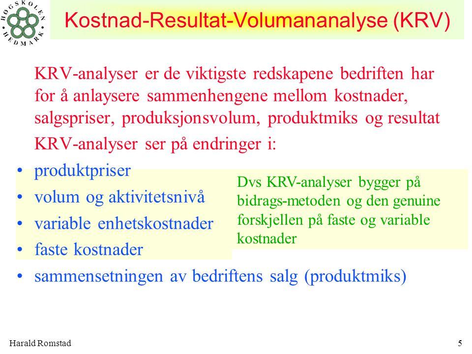 Kostnad-Resultat-Volumananalyse (KRV)