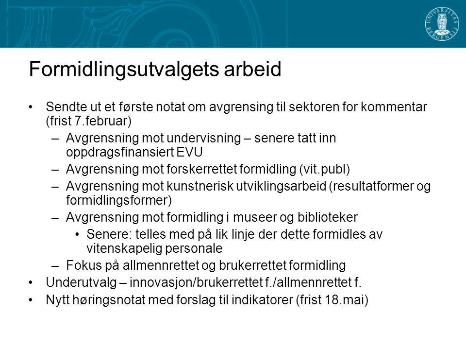 Formidlingsutvalgets arbeid