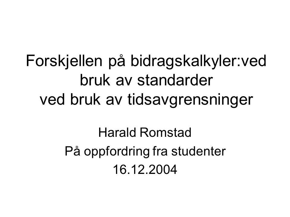 Harald Romstad På oppfordring fra studenter 16.12.2004