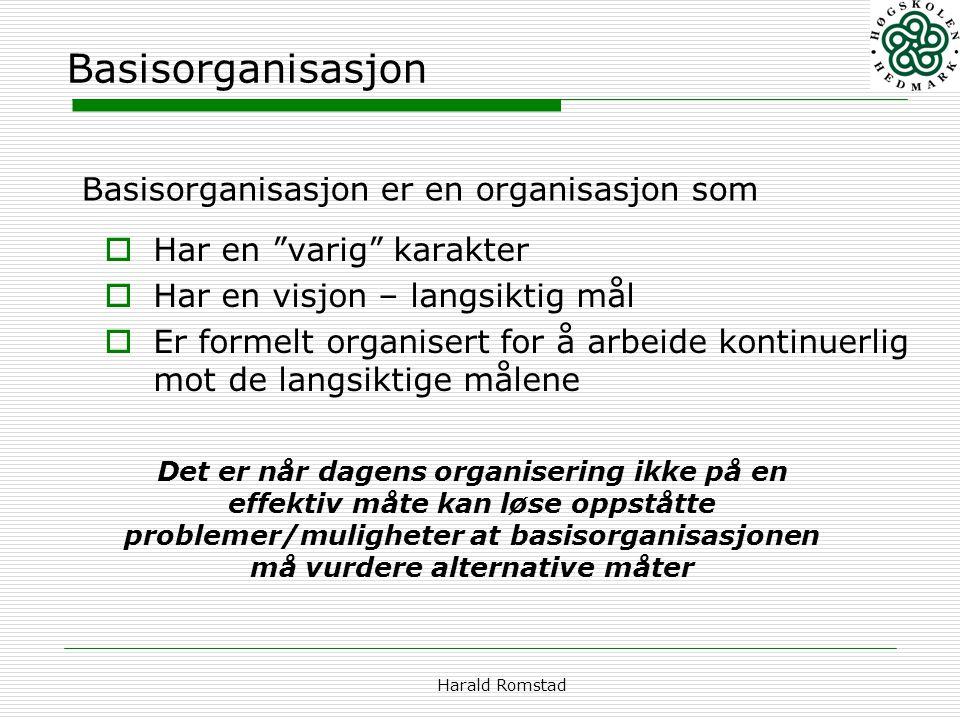 Basisorganisasjon Basisorganisasjon er en organisasjon som