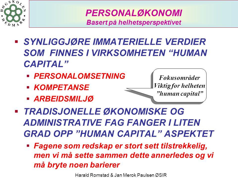 PERSONALØKONOMI Basert på helhetsperspektivet