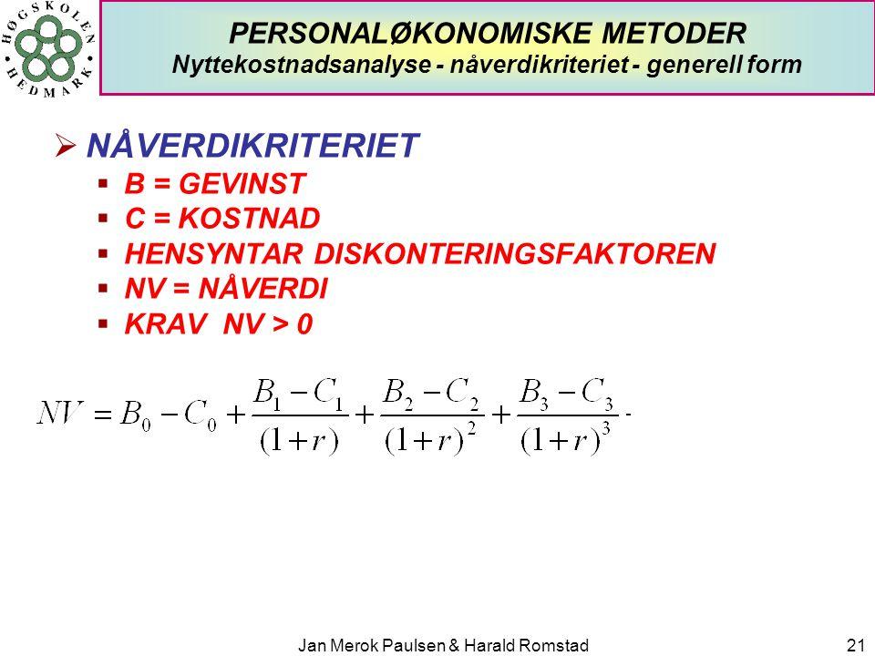 Jan Merok Paulsen & Harald Romstad