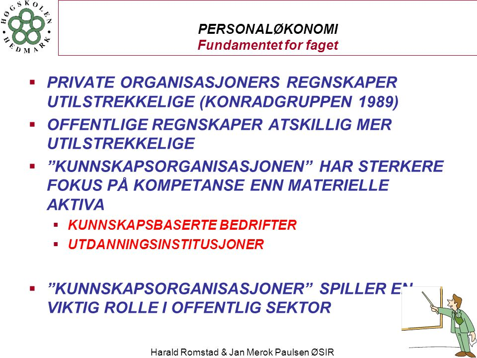 PERSONALØKONOMI Fundamentet for faget