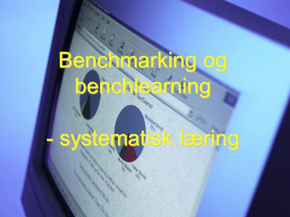 Benchmarking og benchlearning - systematisk læring