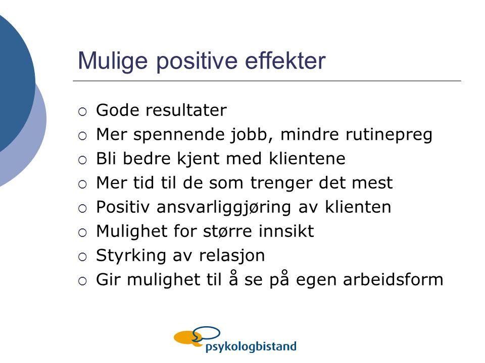 Mulige positive effekter