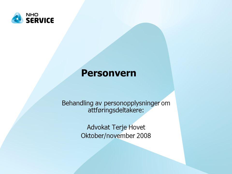 Behandling av personopplysninger om attføringsdeltakere: