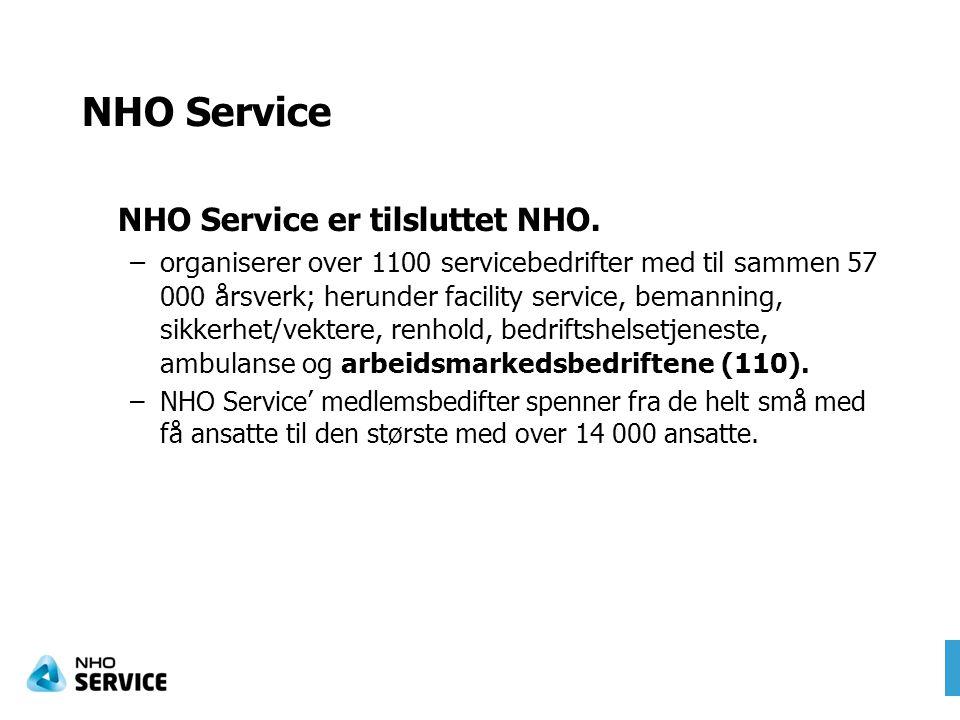 NHO Service NHO Service er tilsluttet NHO.