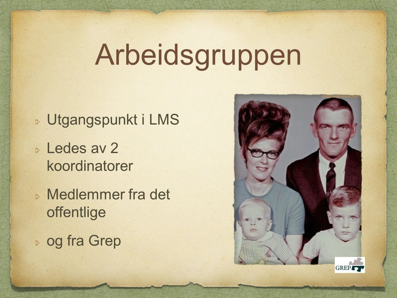 Arbeidsgruppen Utgangspunkt i LMS Ledes av 2 koordinatorer