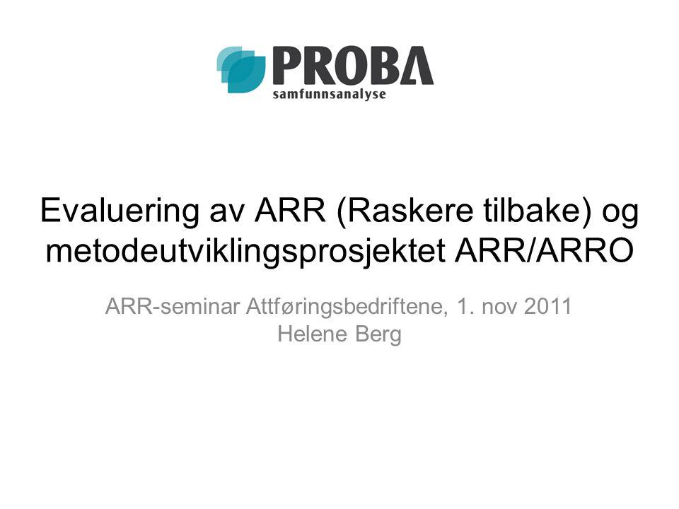 ARR-seminar Attføringsbedriftene, 1. nov 2011 Helene Berg