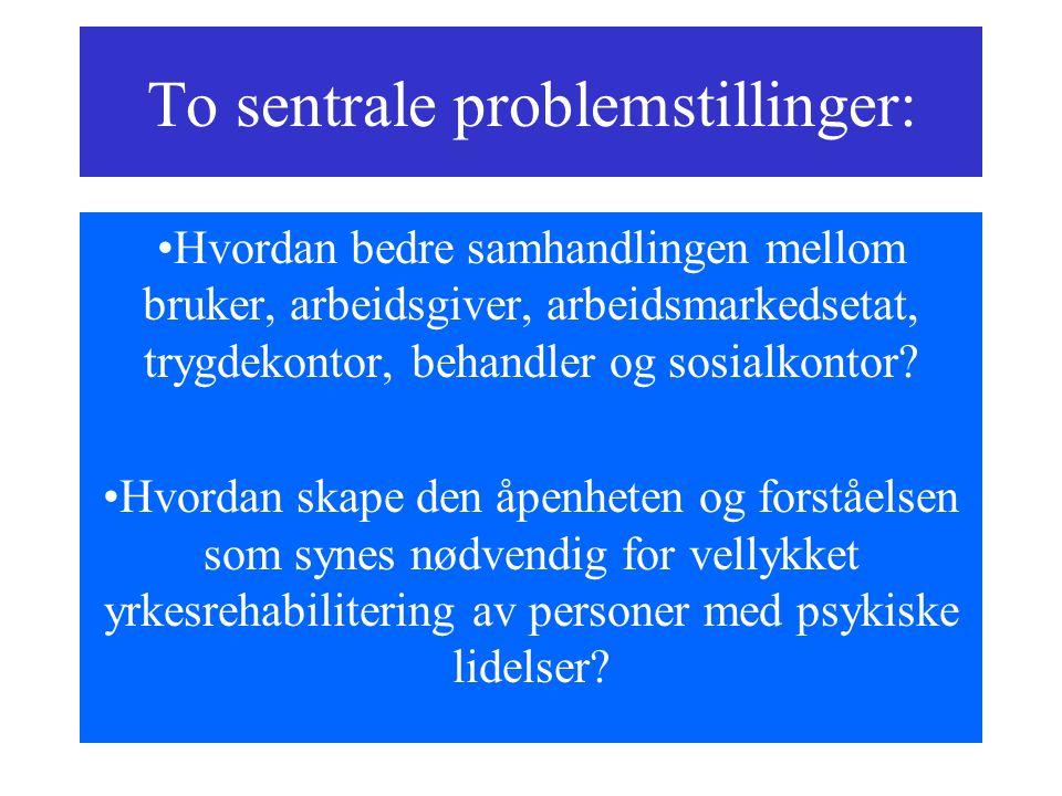 To sentrale problemstillinger: