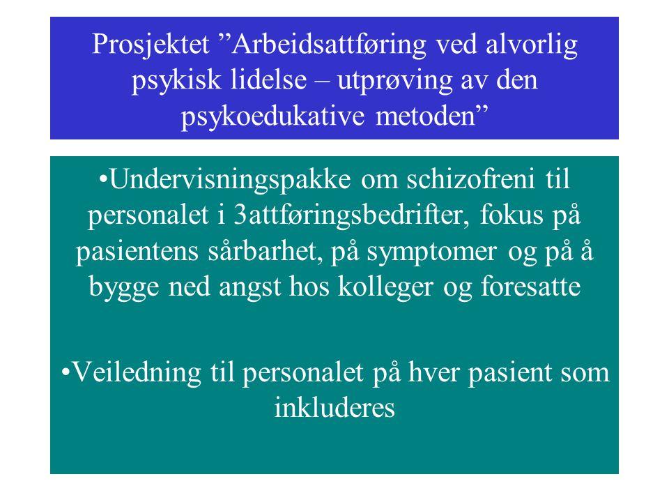 Veiledning til personalet på hver pasient som inkluderes