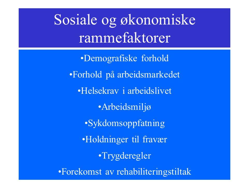 Sosiale og økonomiske rammefaktorer