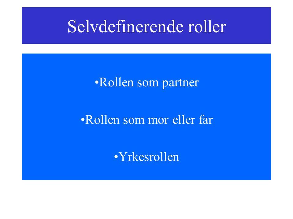 Selvdefinerende roller