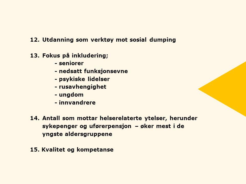 12. Utdanning som verktøy mot sosial dumping