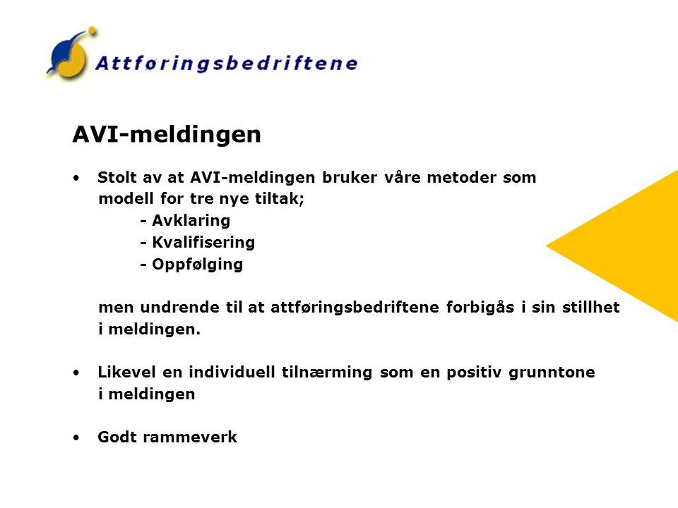 AVI-meldingen Stolt av at AVI-meldingen bruker våre metoder som