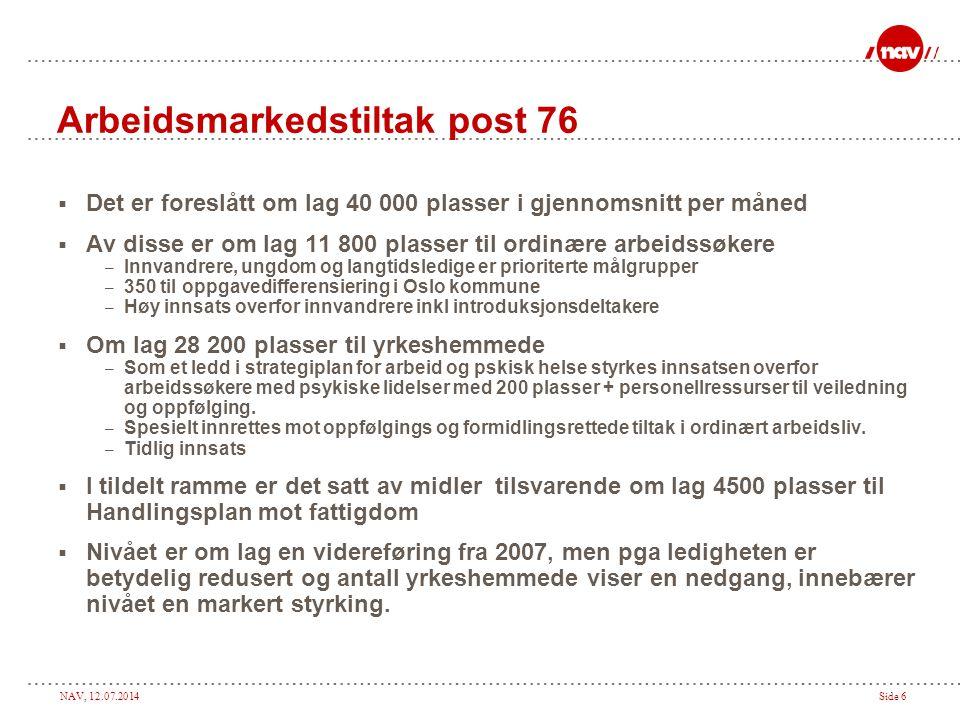Arbeidsmarkedstiltak post 76