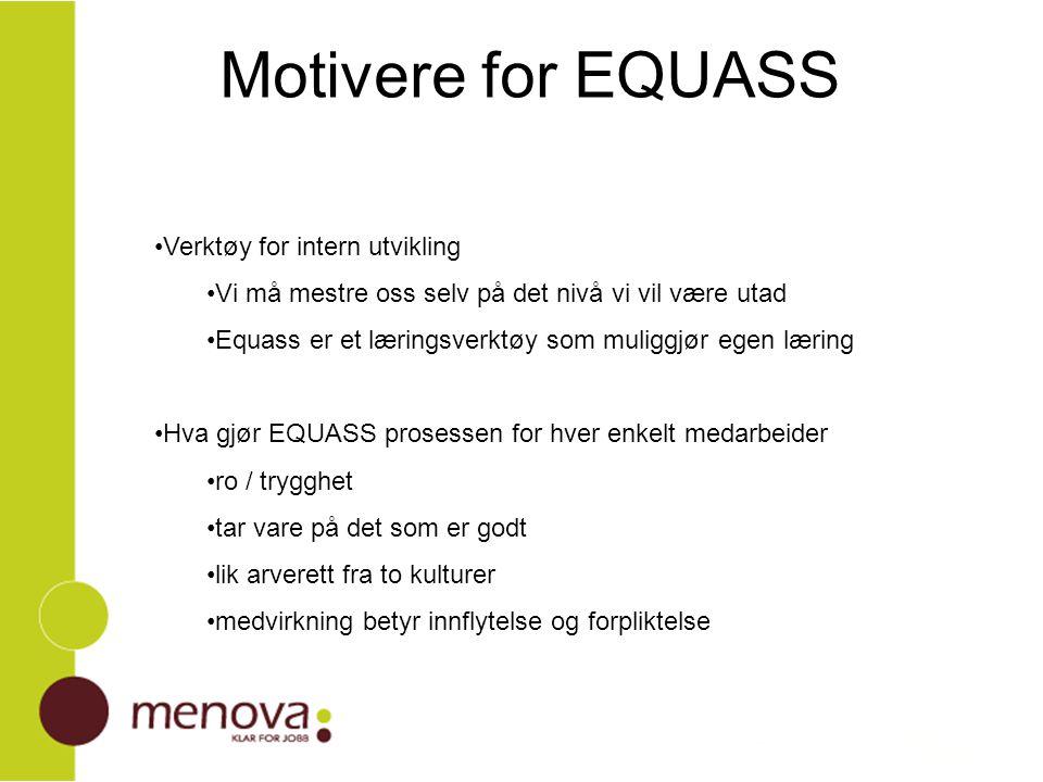Motivere for EQUASS Verktøy for intern utvikling