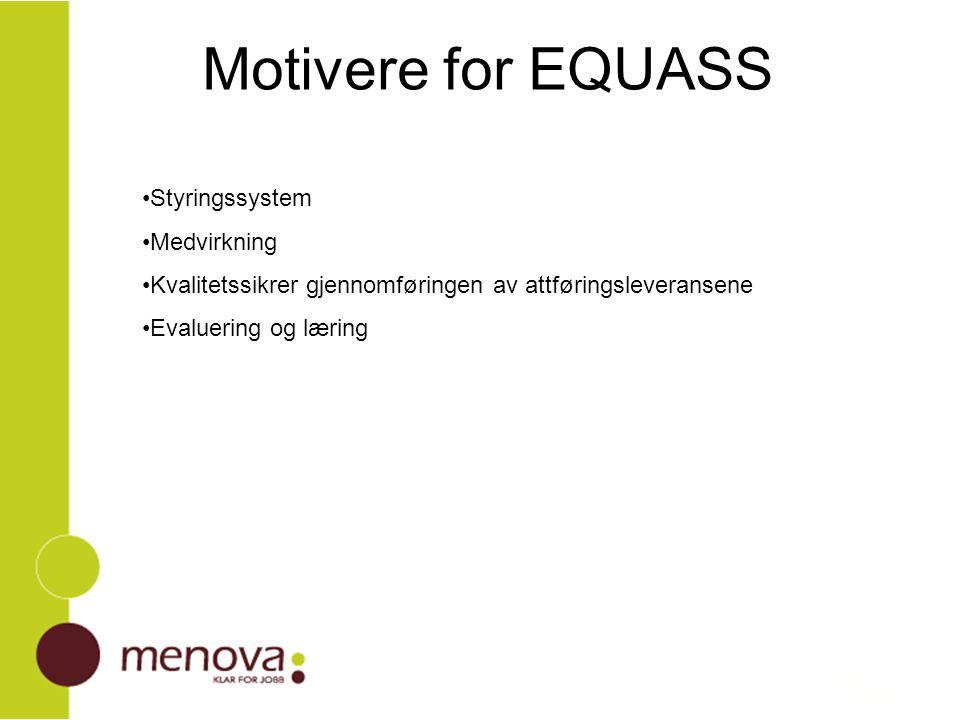 Motivere for EQUASS Styringssystem Medvirkning