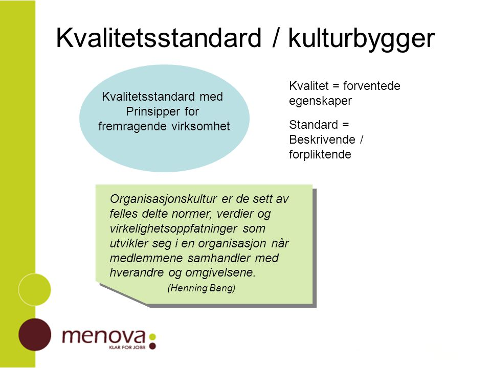 Kvalitetsstandard / kulturbygger