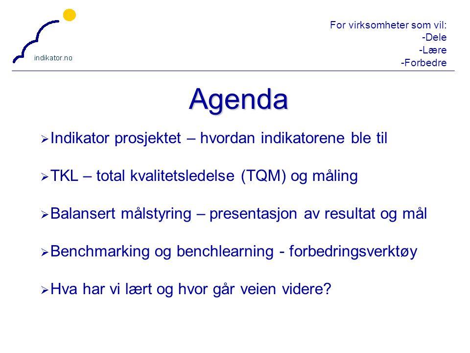 Agenda Indikator prosjektet – hvordan indikatorene ble til