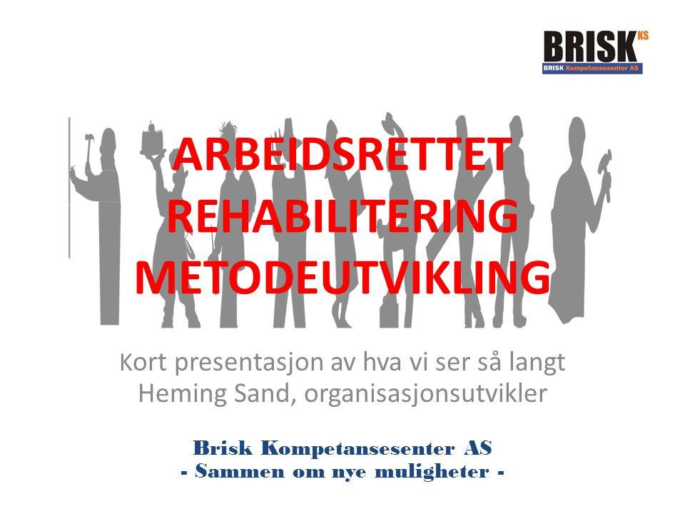 ARBEIDSRETTET REHABILITERING METODEUTVIKLING