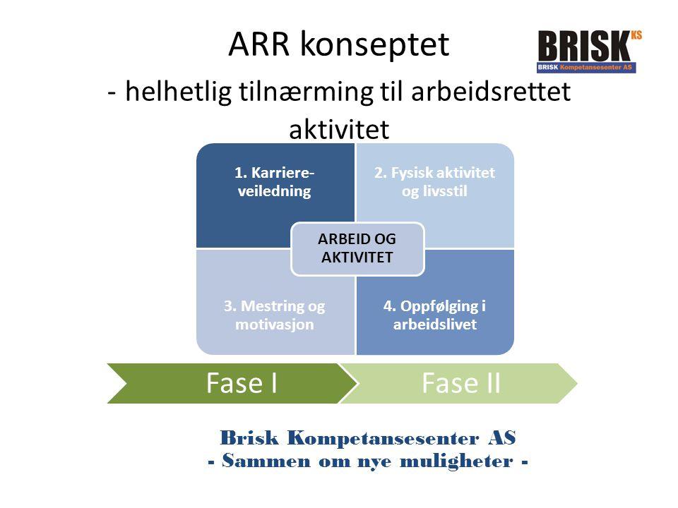 ARR konseptet - helhetlig tilnærming til arbeidsrettet aktivitet