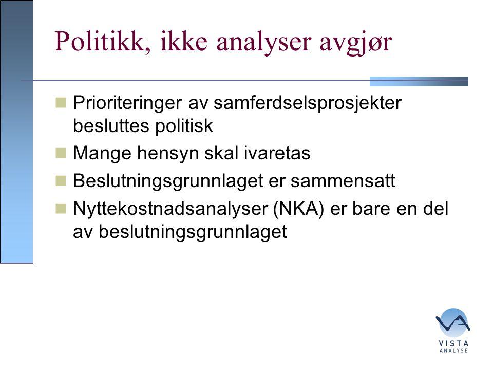 Politikk, ikke analyser avgjør