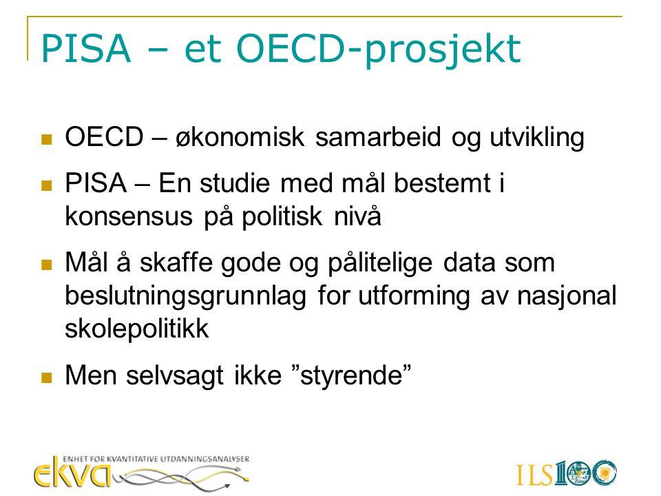 PISA – et OECD-prosjekt