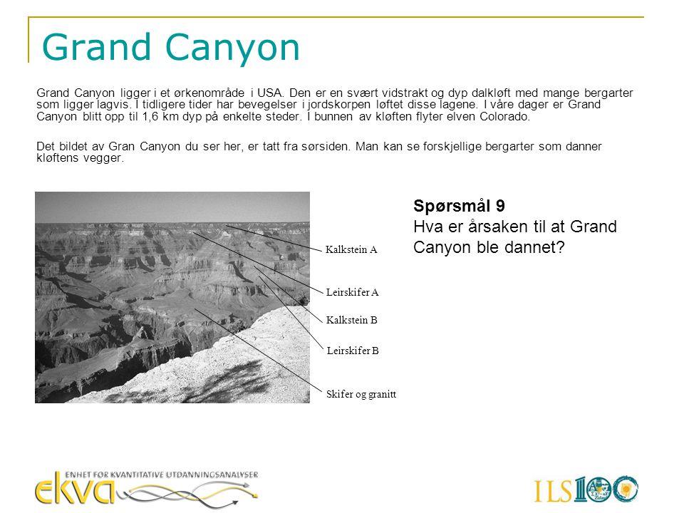 Grand Canyon Spørsmål 9 Hva er årsaken til at Grand Canyon ble dannet