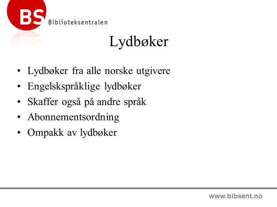 Lydbøker Lydbøker fra alle norske utgivere Engelskspråklige lydbøker
