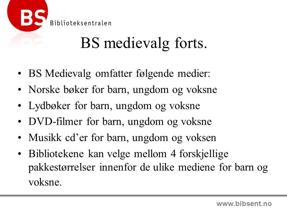 BS medievalg forts. BS Medievalg omfatter følgende medier: