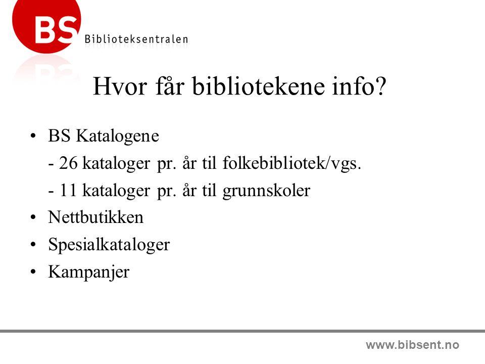 Hvor får bibliotekene info