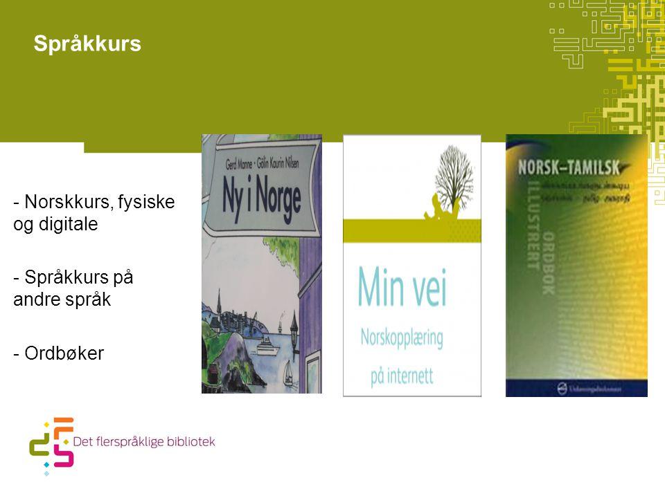 Språkkurs - Norskkurs, fysiske og digitale - Språkkurs på andre språk