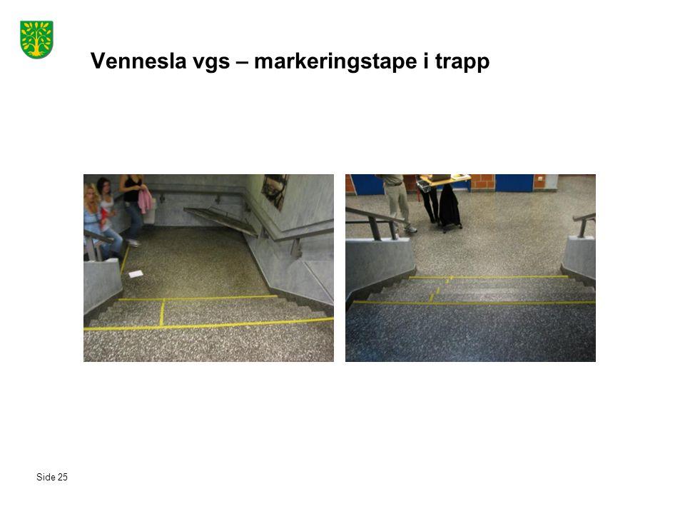 Vennesla vgs – markeringstape i trapp