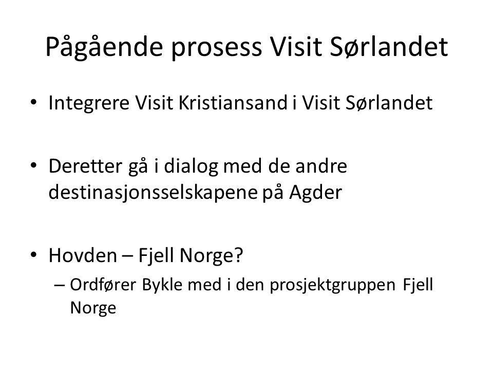 Pågående prosess Visit Sørlandet