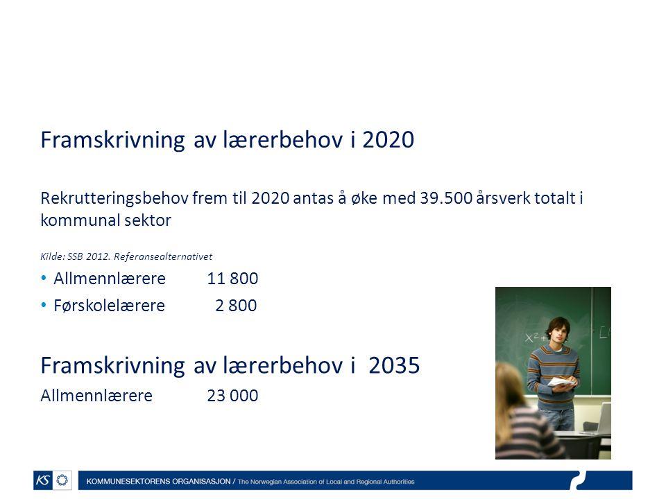 Framskrivning av lærerbehov i 2020