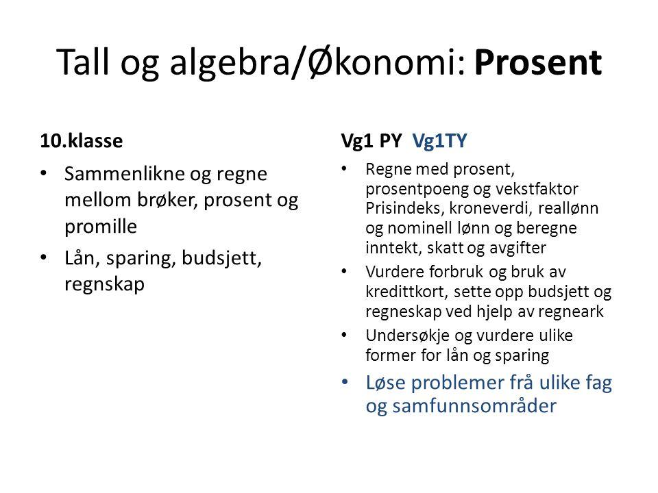 Tall og algebra/Økonomi: Prosent