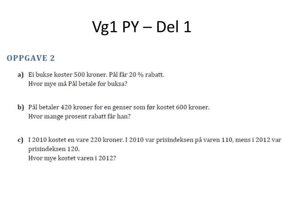 Vg1 PY – Del 1