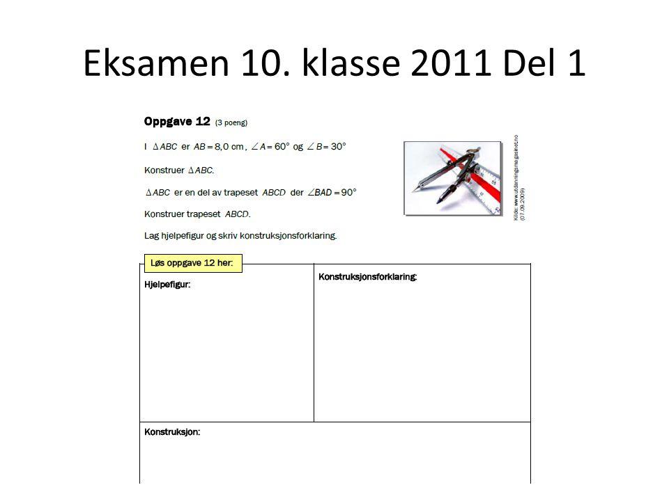Eksamen 10. klasse 2011 Del 1